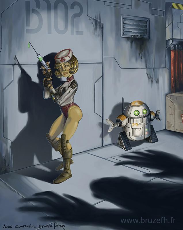 Alien quarantine, par Bruzefh