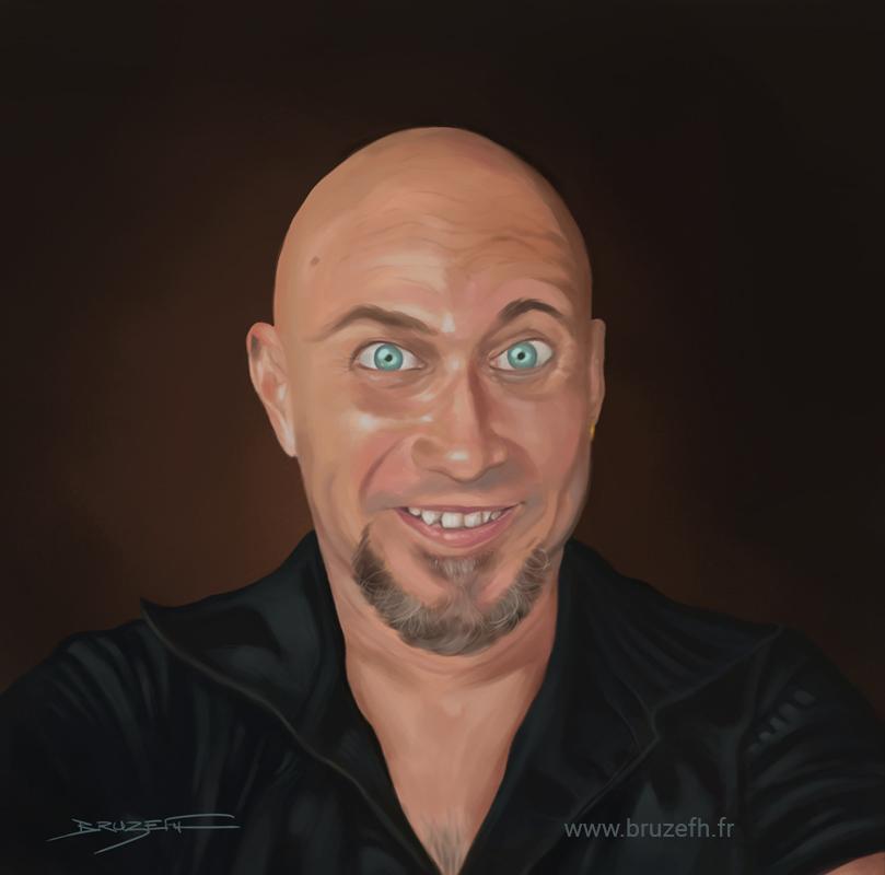 Autoportrait, par Bruzefh