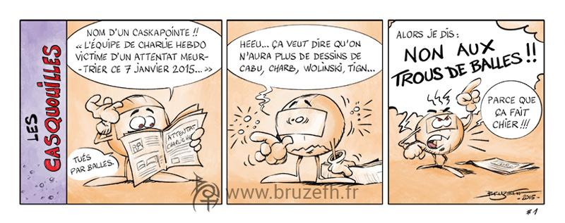 Les Casquouilles n°1, par Bruzefh