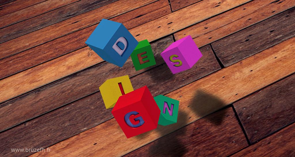 Cubes design - infographie par Bruzefh