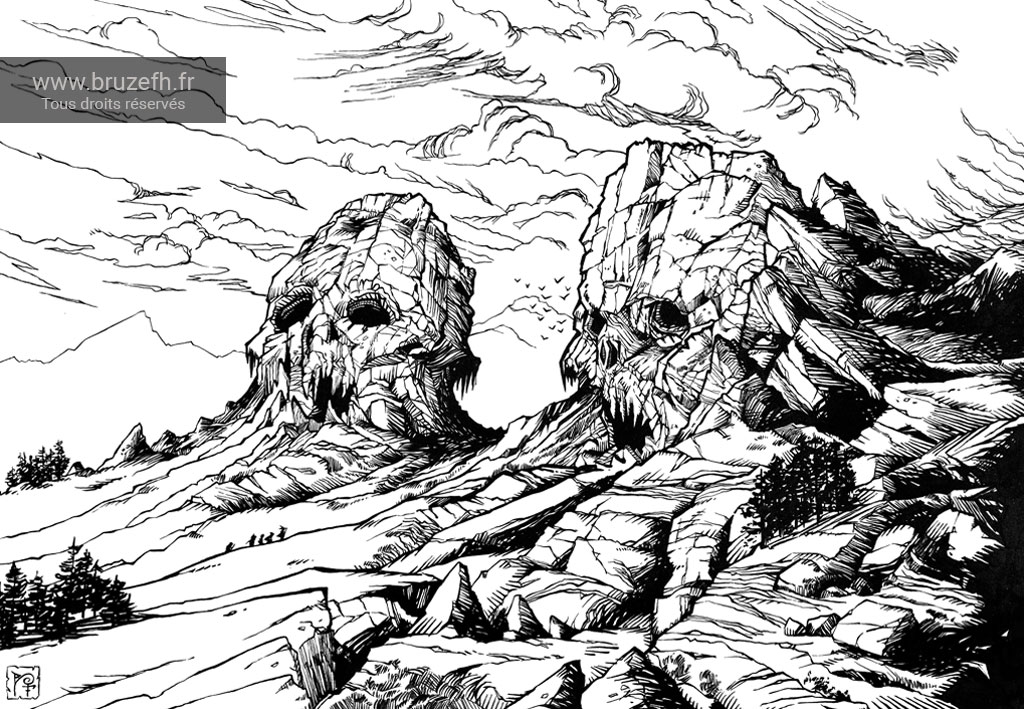 Dead kings skulls mountains, par Bruzefh
