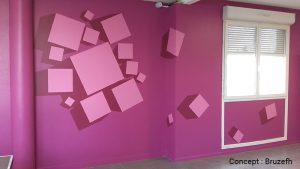 Nouveau look pour les portes de la cafétéria de l'AFPA d'Albi