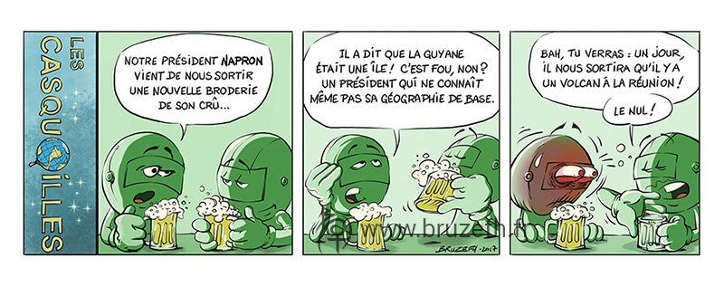 Les Casquouilles n°5, par Bruzefh