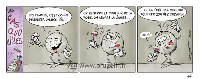 Les Casquouilles n°6, par Bruzefh