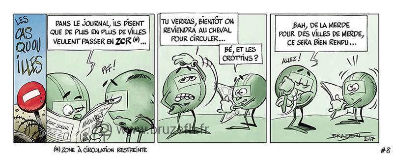 Les Casquouilles n°8, par Bruzefh