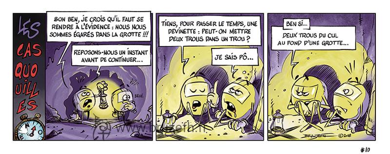 Les Casquouilles n°10, par Bruzefh
