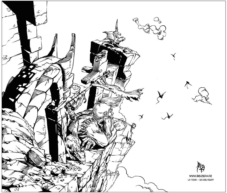 La tour, par Bruzefh