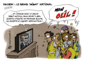 Macron, le Grand débat national et les Gilets jaunes
