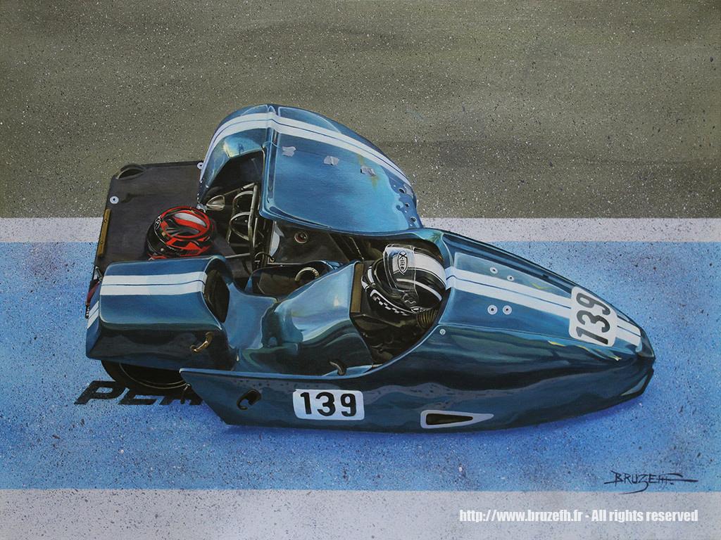 Side-car ede compétition n°139, circuit d'Albi 2016, par Bruzefh