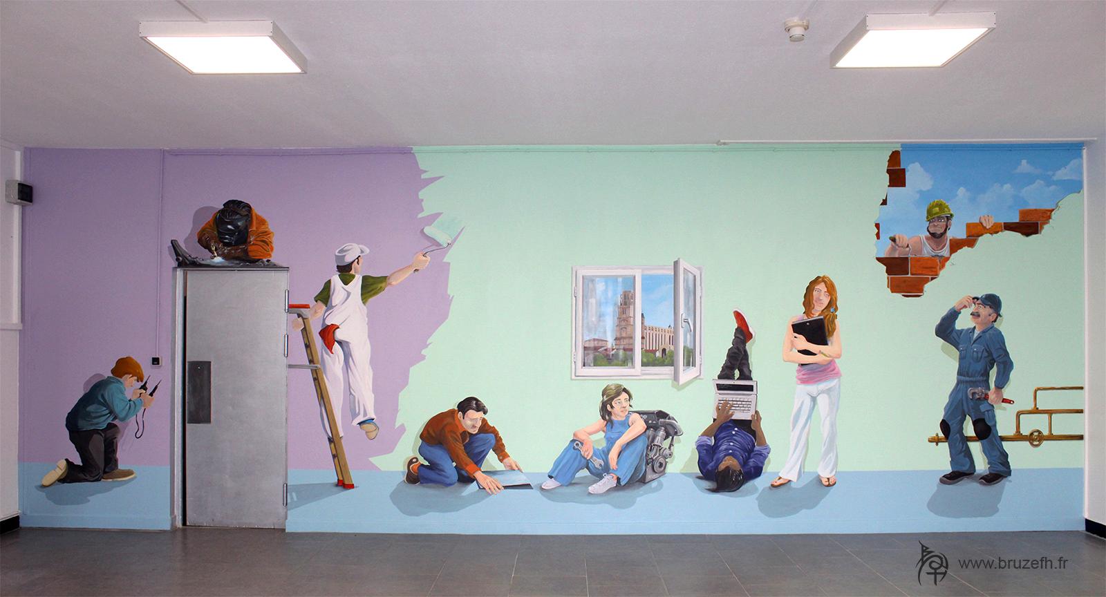 Peinture artistique murale, AFPA d'Albi