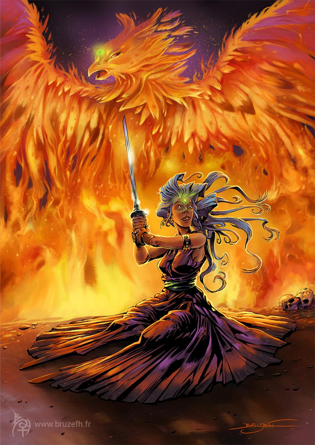"""""""Phoenix"""", peinture numérique de Bruzefh"""