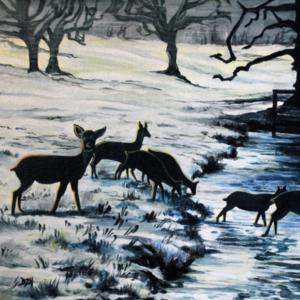Reproduction paysage hivernal, par Bruzefh