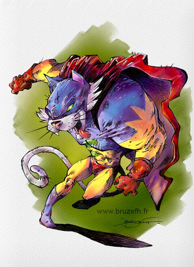 Superhat, dessin numérique par Bruzefh