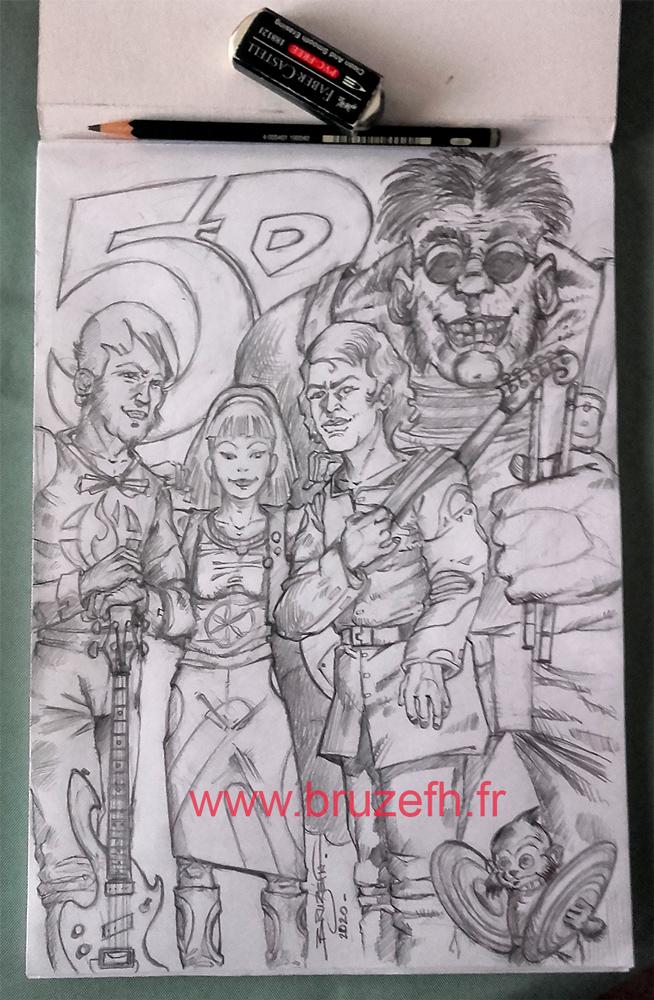 5D, le groupe de musique, par Bruzefh